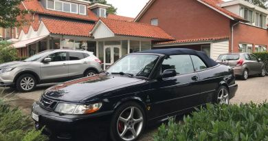 La mia Saab convertibile