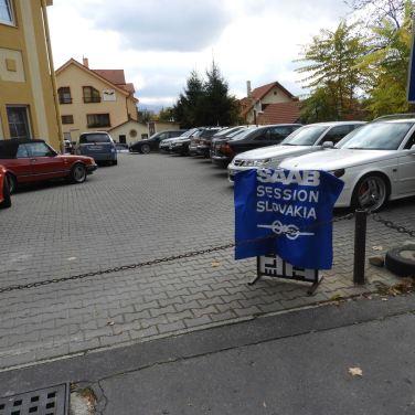 Saab Parkplatz