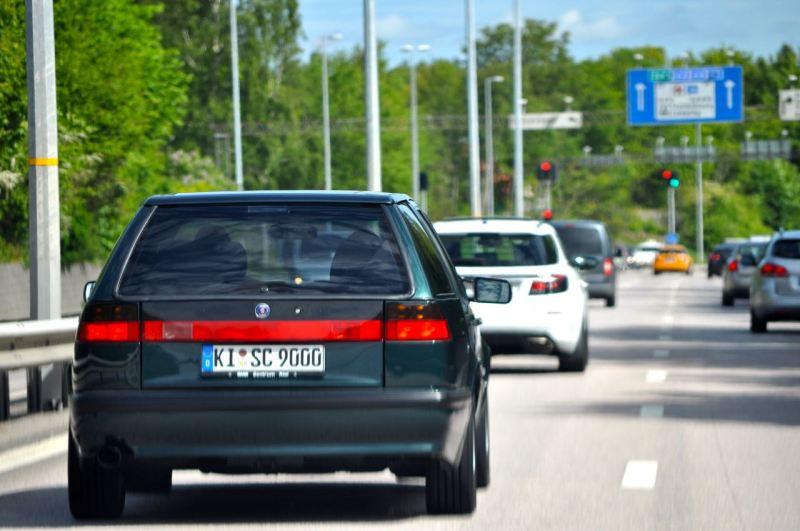 Unterwegs in der Saab Stadt Trollhättan