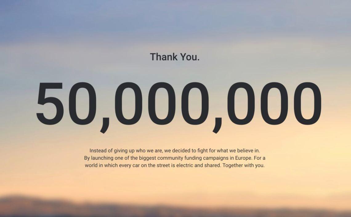 Campagne de crowdfunding de 50 millions