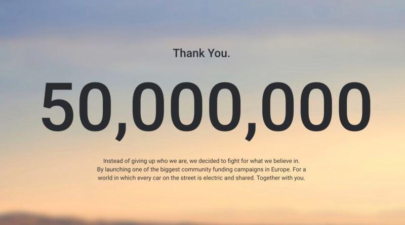 50 milioni di campagna di crowdfunding