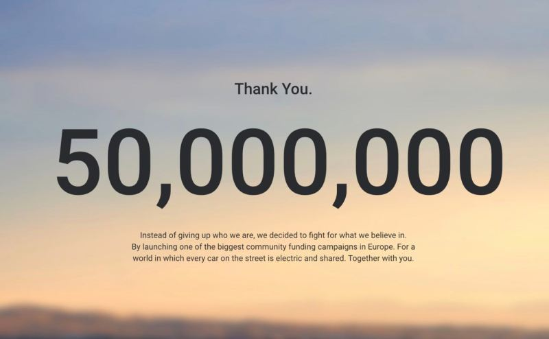 50 Millionen Crowdfunding Kampagne