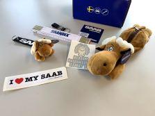Saab Troll, nyckelringar, älg, klistermärken och mer ...