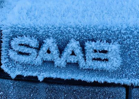 Icy Saab lettering. Picture by Renato from Switzerland.