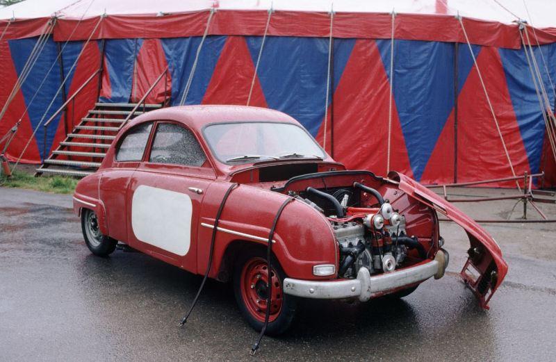 El monstruo de Saab. El primer intento con un seis cilindros, que consta de dos motores de 3 cilindros. Nunca fui a series
