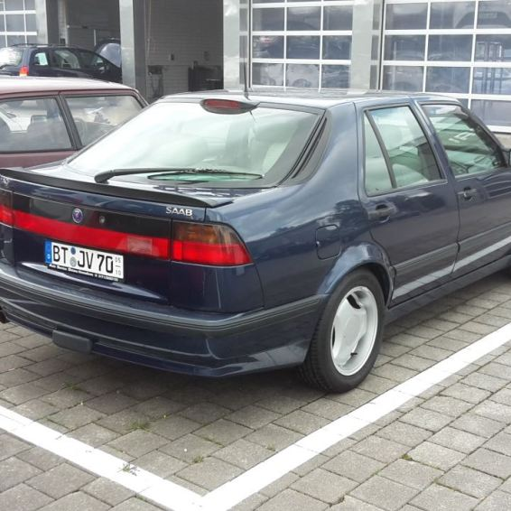 Well maintained with a checkbook. 96 Saab 9000 Aero.