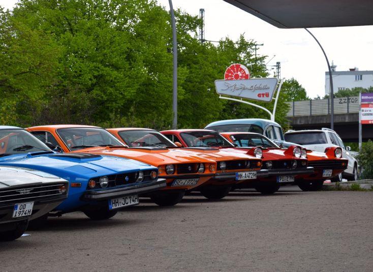 Hamburger Saab Treffen - ohne die Sonett Fraktion undenkbar