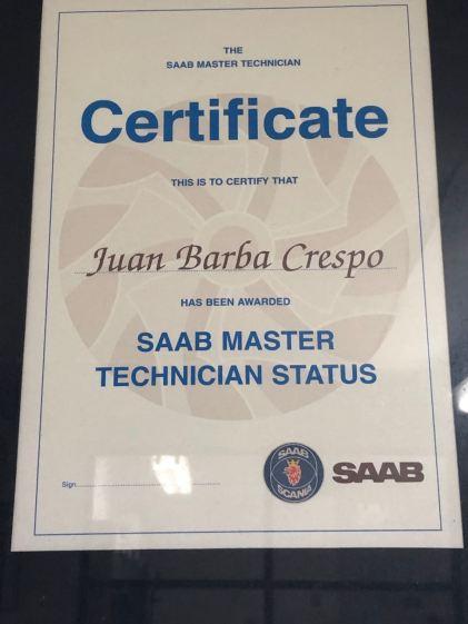Certificato Saab