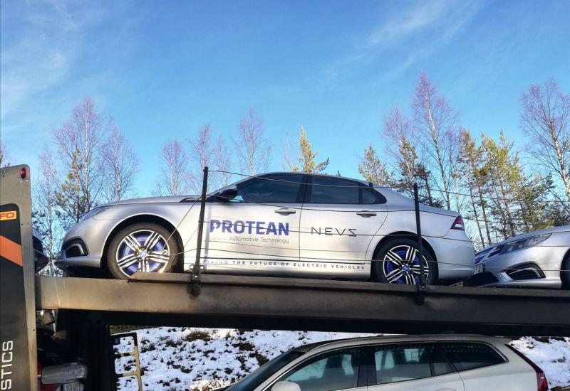 NEVS 9-3 Elektroauto mit Radnabenmotor von Protean