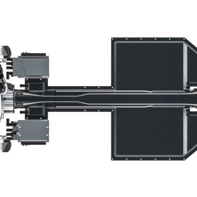 Trasmissione Gemera con 3 motori elettrici e un motore a combustione