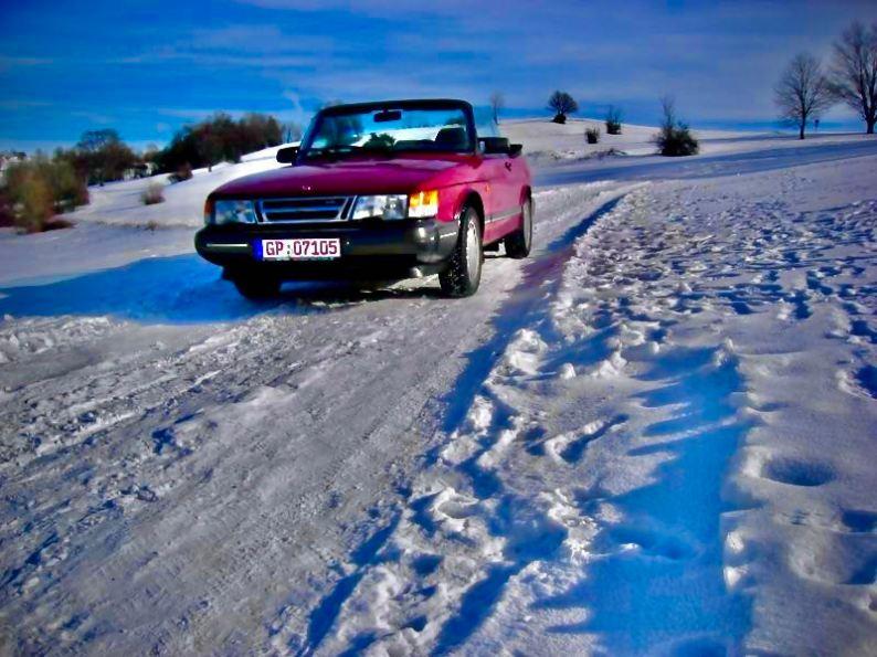 Neve, conversível, não melhora. Harald no inverno.