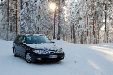 I de finska skogarnas ensamhet. Saab från Tomi.
