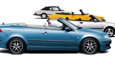 Azul elétrico! Comercial 20 anos Saab Cabriolet.