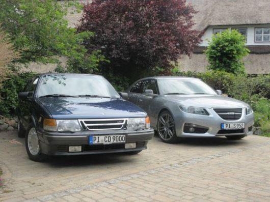 2 x Saab, 2 x Swedish luxury class. Saab 9-5 NG and Saab 9000.