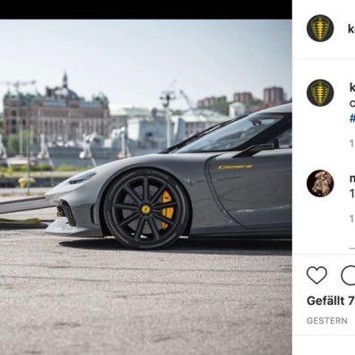 مضاربة على انستغرام. بواسطة Koenigsegg.