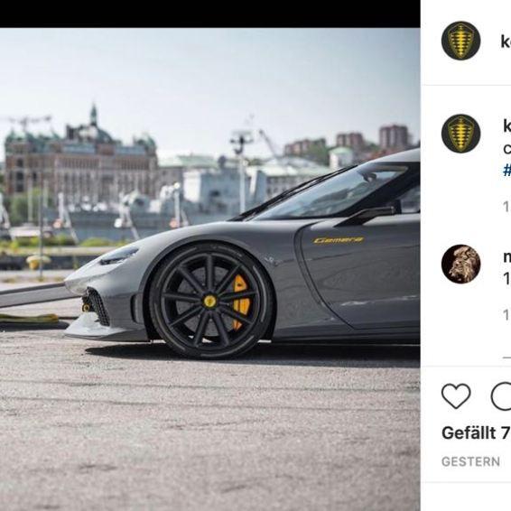 Spekulation auf Instagram. Von Koenigsegg.
