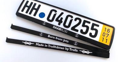 Os nossos titulares de placas Saab. Mudamos o design.