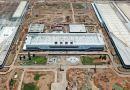 Uma fábrica de automóveis é construída. Evergrande-Hengchi em Nansha.