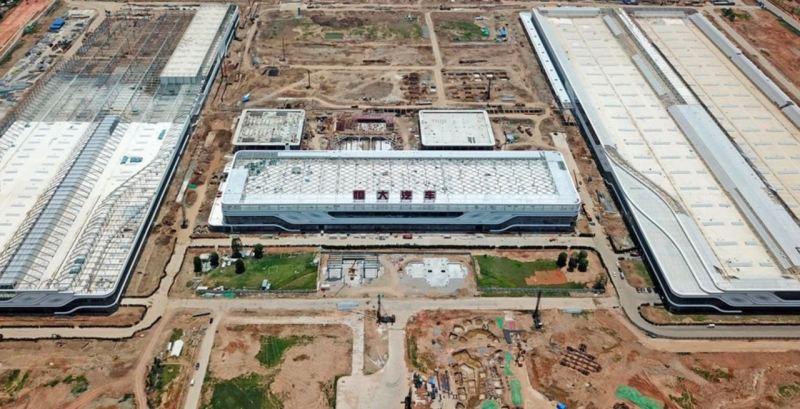 Utsikt över den nya Evergrande-Hengchi-anläggningen i Nansha