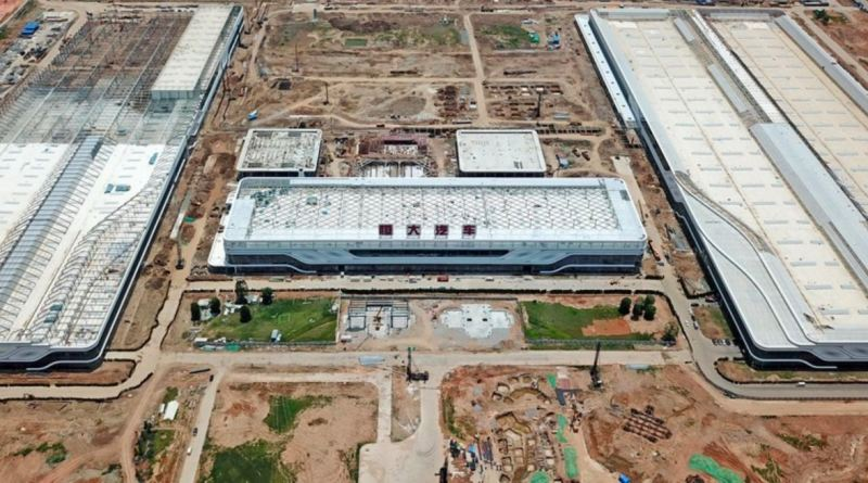 View of the new Evergrande-Hengchi plant in Nansha