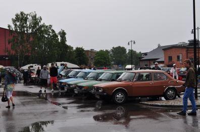 A Saab 99 parade