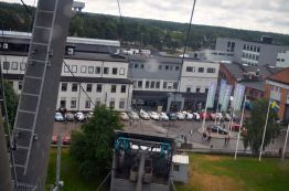 Vista do recinto do festival do teleférico