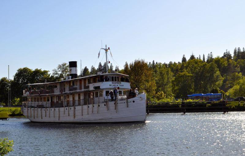 Wilhelm Tham sul canale di Göta vicino a Trollhättan