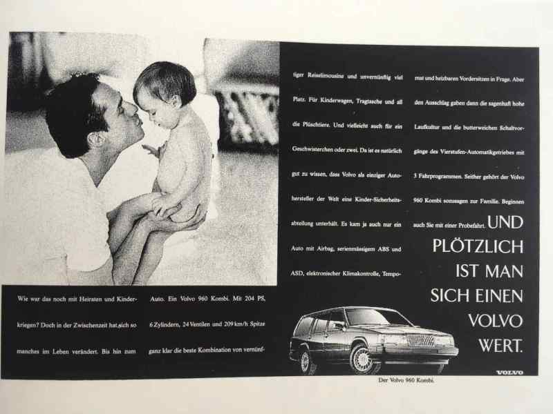 Publicité pour la Volvo 960