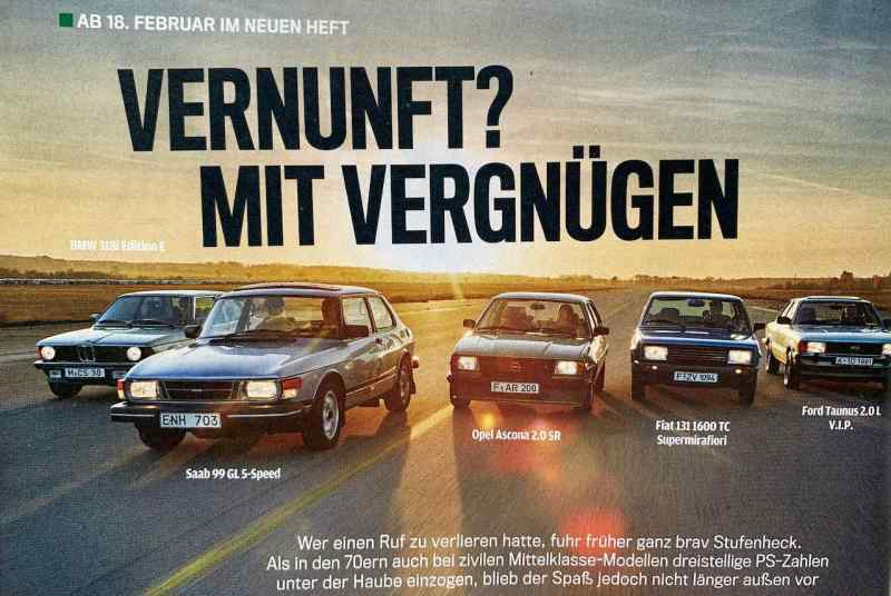 Saab 99 in der Autobild Klassik