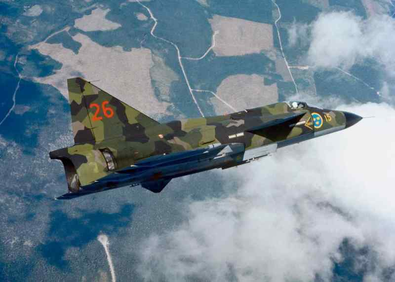 Saab AJ 37 Viggen. Foto Copyright Saab AB.