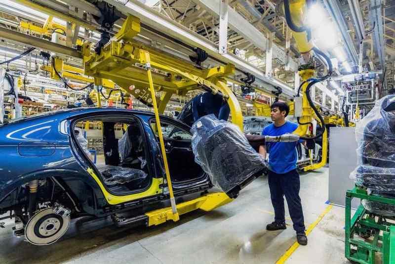 Volvo drosselt die Produktion vorübergehend. Hier in Daqing, China