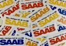 Min riktiga bil är en Saab - klistermärkena är på väg