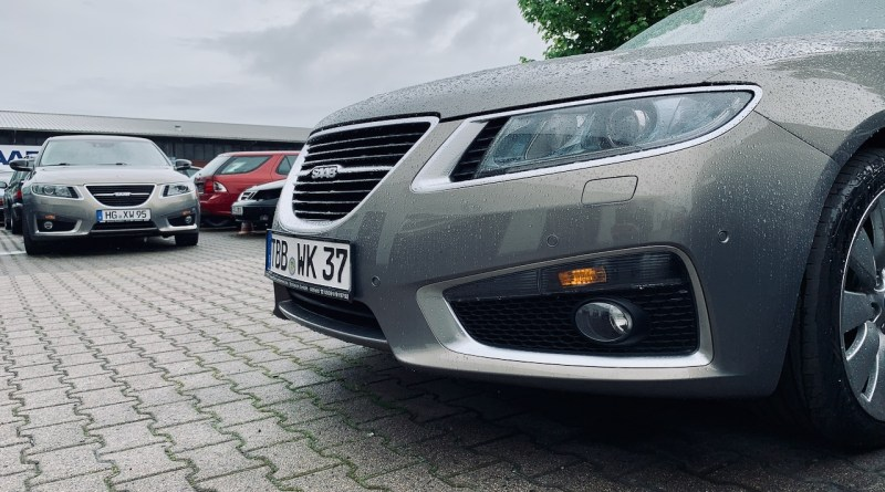 The stars of the show - two Saab 9-5 NG