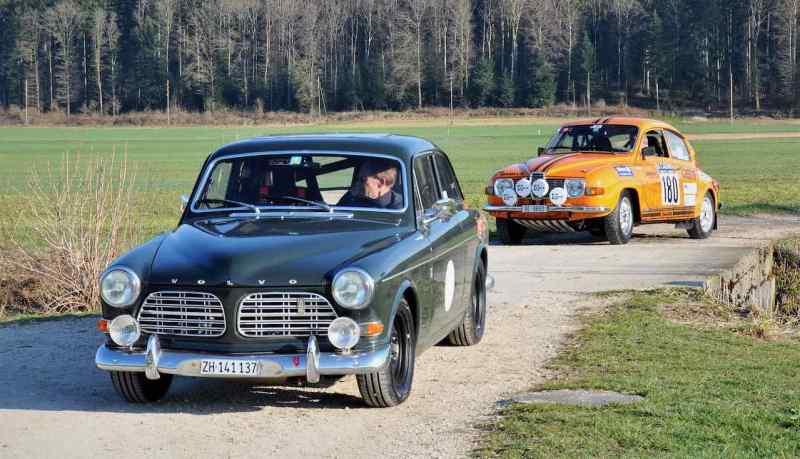 Dúo sueco: Volvo P121 y Saab 96