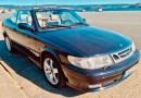 Saab 9-3 Cabriolet. Polvoriento pero bueno.