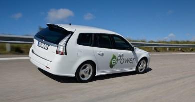 Saab 9-3 ePower - чисто электрический