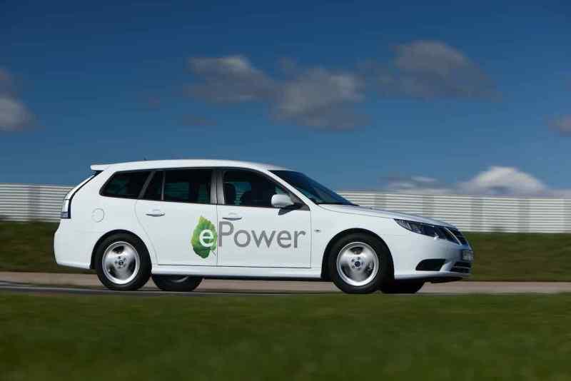 Saab 9-3 ePower 2011 sul sito di prova in fabbrica