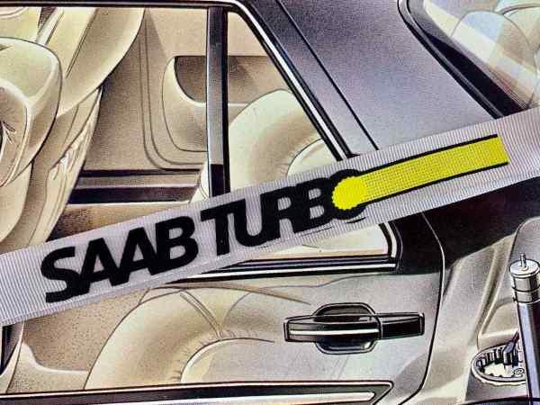 Saab Turbo Lanyard Vit
