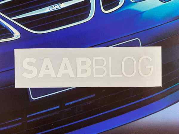 Adesivo Saabblog bianco