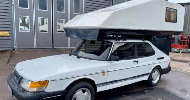 Saab 900 con Toppola Camper