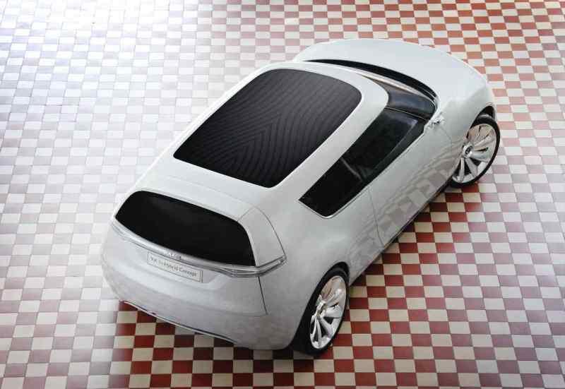 Saab 9-X BioHybrid с солнечной панелью