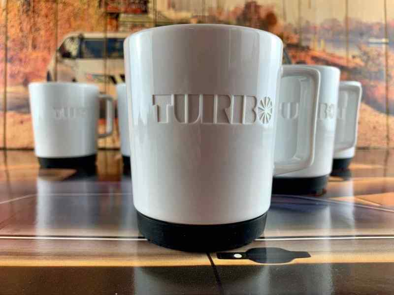 Het historische Turbo-logo leverde het model