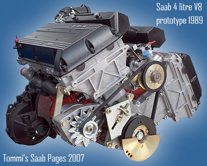 Saab 4 litre V8 prototype 1989
