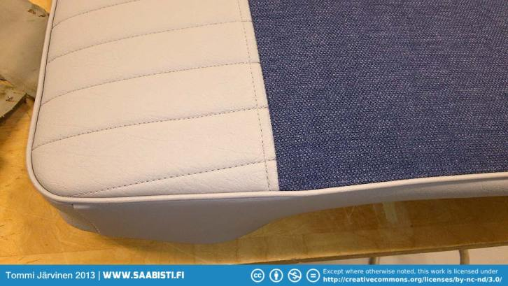 The details were done by sewing. The original seat has heat molded pattern here.