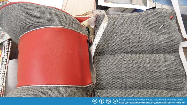 Sewing the head rest and the cushions.