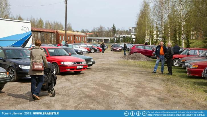 Saab parking continued.