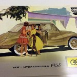 DKW / AUTO UNION leveransprogram 1958. svenska, 12 sidor, reproduktion. 5 €.