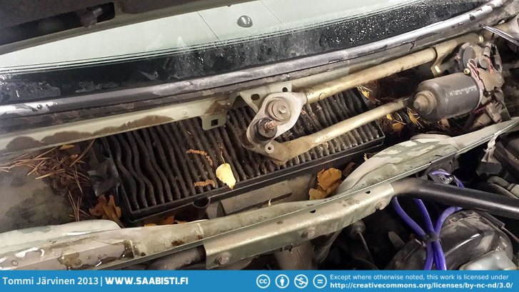 saab-9-3-filthy-fresh-air-filter-replacement