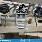 A used set of Saab Sport&Rally grille parts.