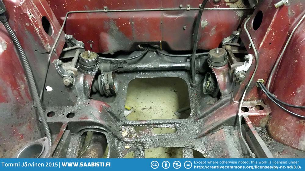 Saab 99T Part 3 – Engine removed